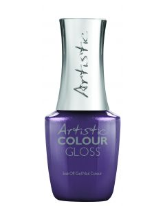 Artistic Colour Gloss Soak Off Gel Nail Colour Stay in Your Lane, 0.5 fl oz. RICH PURPLE SHIMMER