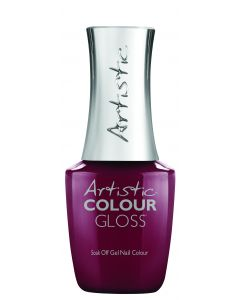 Artistic Colour Gloss Soak Off Gel Nail Colour Yield For No One, 0.5 fl oz. RED CREME