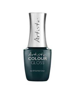 Artistic Colour Gloss Soak Off Gel Be Bold, 0.5 fl oz. TEAL CREME