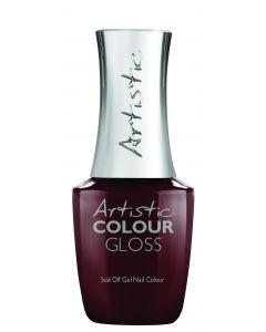 Artistic Colour Gloss Soak Off Gel Nail Colour Dance It Out, 0.5 fl oz. DEEP RED CREME