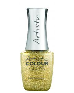 Artistic Colour Gloss Soak Off Gel Nail Colour Yank My Gold Chain, 0.5 fl oz. GOLD GLITTER