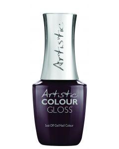 Artistic Colour Gloss Soak Off Gel Nail Colour Don't Forget the Funk, 0.5 fl oz. BLACKEST PURPLE CREME