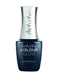 Artistic Colour Gloss Soak Off Gel Nail Colour Lights, Camera, Dance!, 0.5 fl oz. DARK TEAL SHIMMER