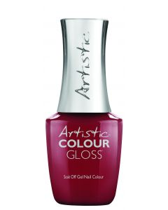 Artistic Colour Gloss Soak Off Gel Nail Colour Redwardian, 0.5 fl oz. RED CREME