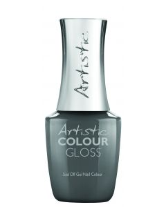 Artistic Colour Gloss Soak Off Gel Nail Colour Trousers to Rouse Her, 0.5 fl oz. MEDIUM GREY CREME