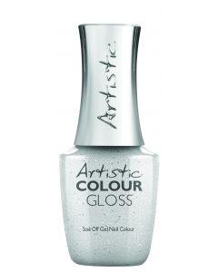 Artistic Colour Gloss Soak Off Gel Nail Colour I Make the Rules, 0.5 fl oz. SILVER BRUSHED METAL FOIL