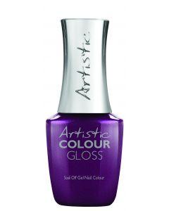 Artistic Colour Gloss Soak Off Gel Nail Colour Tailored Tartan, 0.5 fl oz. DARK PURPLE SHIMMER