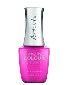 Artistic Colour Gloss Soak Off Gel Nail Colour Glow Big or Go Home, 0.5 fl oz. BOLD MEDIUM PINK CREME