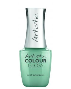 Artistic Colour Gloss Soak Off Gel Nail Colour Bitter Truth, 0.8 oz. SOFT GREEN CREME