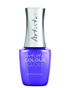 Artistic Colour Gloss Soak Off Gel Nail Colour Who's Counting Anyways?, 0.8 oz. PURPLE METALLIC SHIMMER