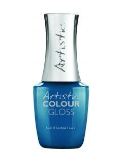 Artistic Colour Gloss Soak Off Gel Nail Colour Aqua Attitude, 0.5 fl oz. TEAL CREME
