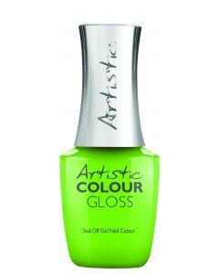 Artistic Colour Gloss Soak Off Gel Nail Colour Glow Get It!, 0.5 fl oz. BRIGHT CORAL CREME