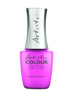 Artistic Colour Gloss Soak Off Gel Nail Colour Bubblegum is Poppin', 0.5 fl oz. PINK CREME