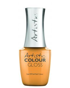 Artistic Colour Gloss Soak Off Gel Nail Colour Sunshine Tan Line, 0.5 fl oz. YELLOW-ORANGE CREME