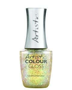 Artistic Colour Gloss Soak Off Gel Nail Colour Over the Top, 0.5 fl oz. IRIDESCENT GOLD OVERLAY