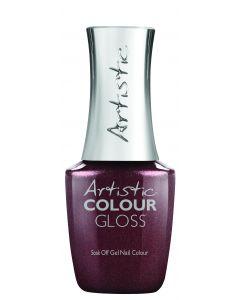 Artistic Colour Gloss Soak Off Gel Nail Colour Excess is Success, 0.5 fl oz. PURPLE BROWN SHIMMER