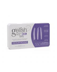 Gelish Soft Gel Tips - Medium Round - Gelish Soft Gel - 550CT - 1168095