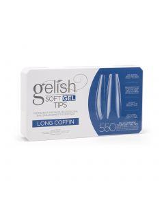 Gelish Soft Gel Tips - Long Coffin - Gelish Soft Gel - 550CT - 1168096