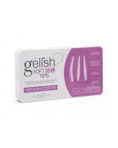 Gelish Soft Gel Tips - Medium Coffin - Gelish Soft Gel - 550CT - 1168098