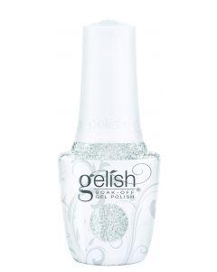 Gelish Soak-Off Gel Polish Liquid Frost, 0.5 fl oz. SILVER METALLIC WITH CHUNKY GLITTER