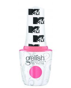 Gelish Soak-Off Gel Polish Show Up & Glow Up, 0.5 fl oz. BRIGHT PINK SHIMMER