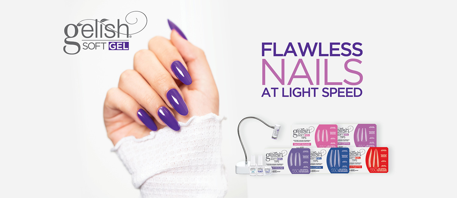 Flawless Nails At Light Speed - Gelish Soft Gel Tips